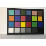 Color image of color target