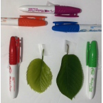 Color image of pens and leaves